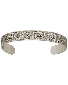 Montana Silversmiths Antiqued Montana Classic Engraved Narrow Cuff