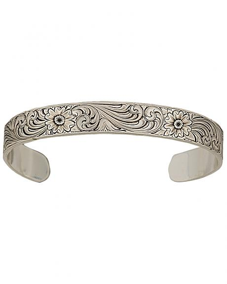 Montana Silversmiths Antiqued Montana Classic Engraved Narrow Cuff