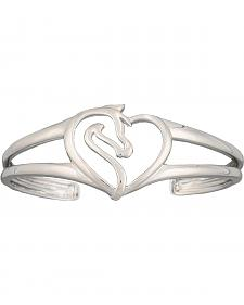 Montana Silversmiths Equestrian Heart Cuff Bracelet