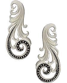 Montana Silversmiths Women's Western Lace Whisper Earrings