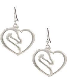 Montana Silversmiths Women's Equestrian Heart Earrings