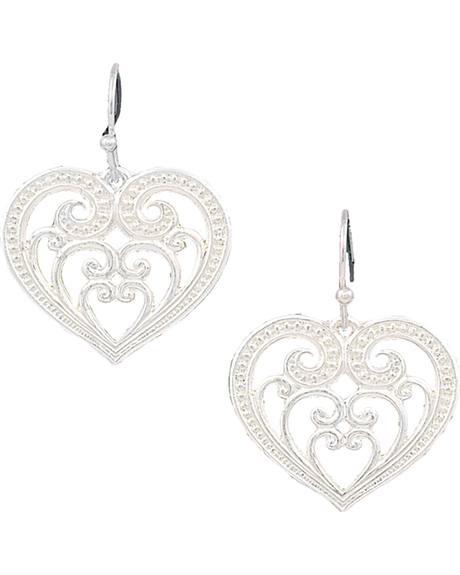 Montana Silversmiths Women's Petite Blooming Heart Earrings
