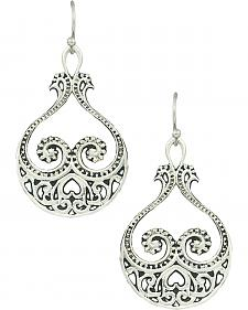 Montana Silversmiths Women's Western Lace Paisley Hearts Earrings