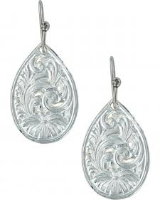 Montana Silversmiths Women's Western Lace Flower Petal Earrings