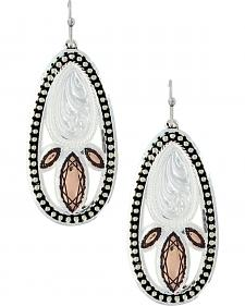 Montana Silversmiths Women's Crosscut Prairie Fire Earrings