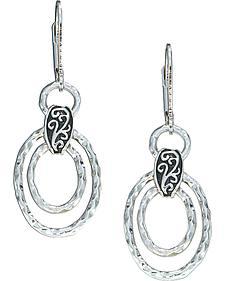 Montana Silversmiths Women's Hammered Ovals Dangle Earrings