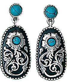 Montana Silversmiths Women's Turquoise Posy Drop Earrings