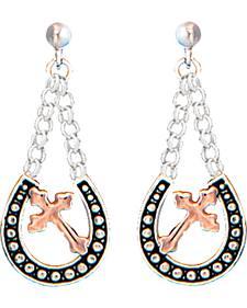 Montana Silversmiths Women's Walking God's Path Dangle Earrings