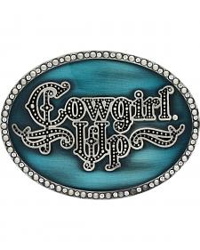 Montana Silversmiths Women's Little Attitude Turquoise Cowgirl Up Buckle