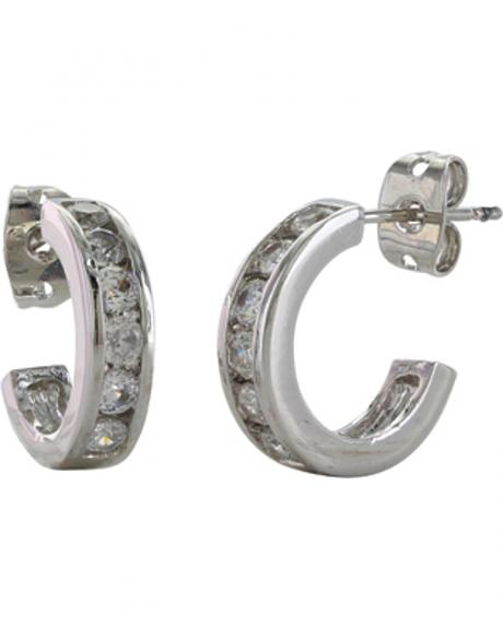 Montana Silversmiths Women's Path of Star Lights Hoop Earrings