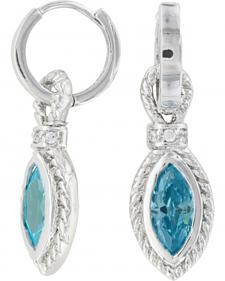 Montana Silversmiths Lassoed Blue Starlight Earrings