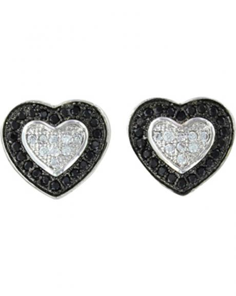 Montana Silversmiths Double Layer of Love Earrings