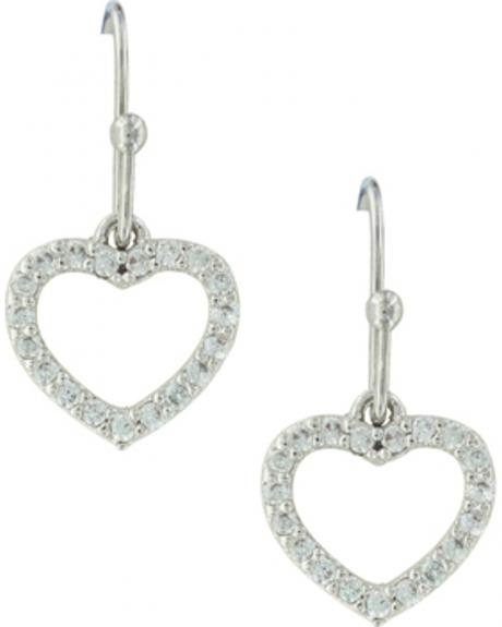 Montana Silversmiths Women's Heart Frame Earrings