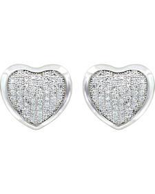 Montana Silversmiths Simply Pave Heart Earrings