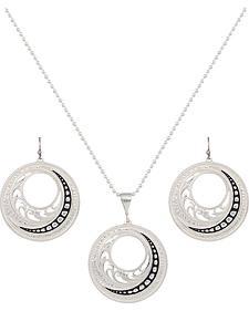 Montana Silversmiths Western Lace Winding Jewelry Set