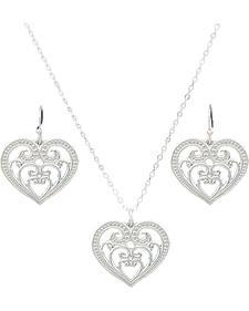 Montana Silversmiths Petite Blooming Heart Jewelry Set