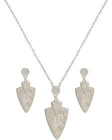 Montana Silversmiths A Keen Pursuit Arrowhead Jewelry Set