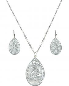 Montana Silversmiths Western Lace Petal Jewelry Set