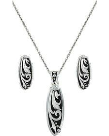 Montana Silversmiths Leathercut Trailing Vine Jewelry Set