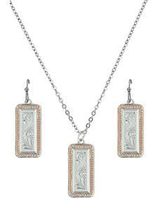 Montana Silversmiths Crosscut Floral Jewelry Set