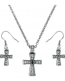 Montana Silversmiths Vintage Horseshoe Cross Jewelry Set