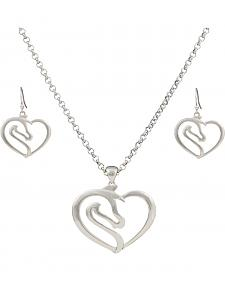 Montana Silversmiths Equestrian Heart Jewelry Set