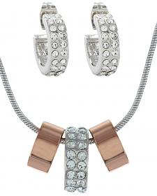 Montana Silversmiths Rose Gold and Double Shine Jewelry Set