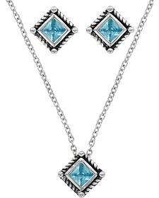 Montana Silversmiths Roped Blue Starlight Jewelry Set