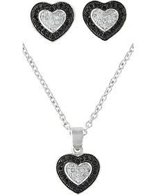 Montana Silversmiths Double Layer of Love Jewelry Set