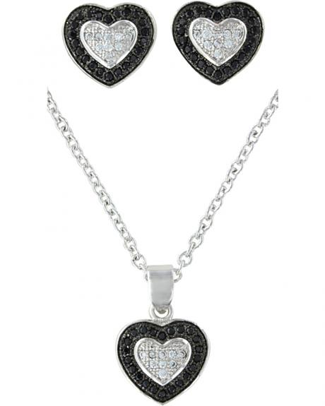 Montana Silversmiths Double Layer of Love Jewelry Set