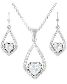 Montana Silversmiths Hearts on a Swing Jewelry Set