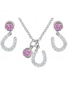 Montana Silversmiths Pink Luck by Starlight Jewelry Set