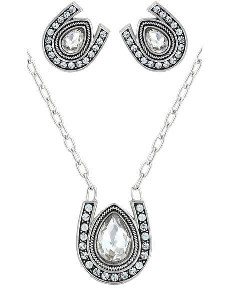 Montana Silversmiths Rider's Brilliant Raindrop Jewelry Set