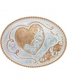 Montana Silversmiths A Heart of Rose Gold Westrn Belt Buckle
