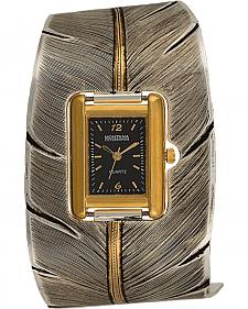 Montana Silversmiths To Fly With Strength and Grace Feather Cuff Watch