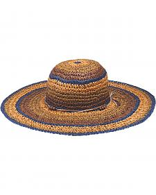 "Peter Grimm Christi 4 1/4"" Striped Sun Hat"