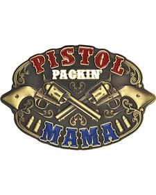 Montana Silversmiths Pistol Packin' Mama Attitude Buckle