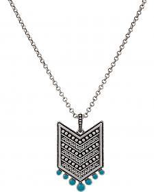Wrangler Rock 47 Points of Aztec Chevron Turquoise Necklace