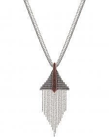 Wrangler Rock 47 Points of Aztec Fringed Pyramid Necklace