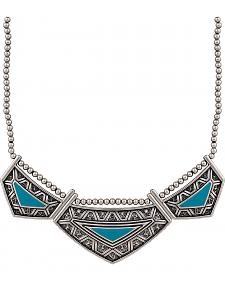 Wrangler Rock 47 Points of Aztec Turquoise Collar Necklace