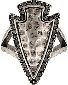 Wrangler Rock 47 Tribal Flair Arrowhead Ring