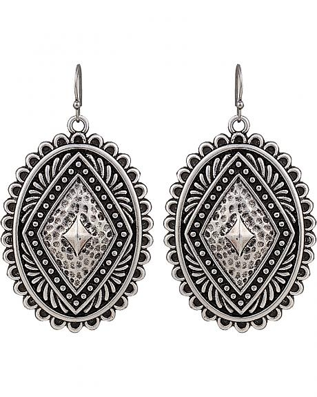 Rock 47 by Montana Silversmiths Antique Silver Concho Earrings