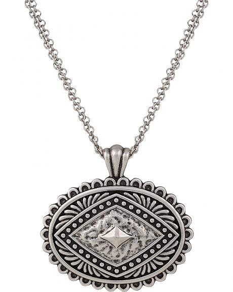 Rock 47 by Montana Silversmiths Antique Silver Concho Necklace