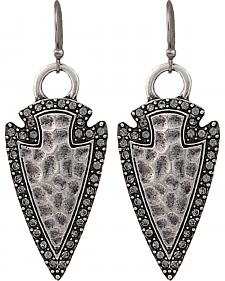 Wrangler Rock 47 Tribal Flair Arrowhead Earrings