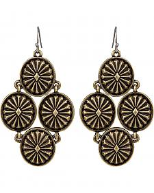 Wrangler Rock 47 Points of Aztec Starburst Cluster Earrings