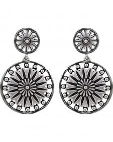 Wrangler Rock 47 Vintage Kitsch Flower Sunburst Earrings