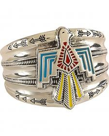 Rock 47 by Montana Silversmiths Flair Painted Thunderbird Cuff Bracelet