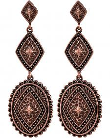 Rock 47 by Montana Silversmiths Points of Aztec Copper-Tone Pyramid View Earrings