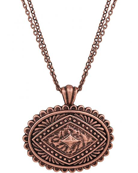 Rock 47 by Montana Silversmiths Points of Aztec Copper-Tone Pyramid Necklace