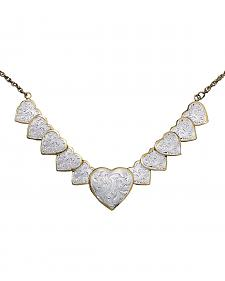 Montana Silversmiths Silver and Gold Heart Necklace